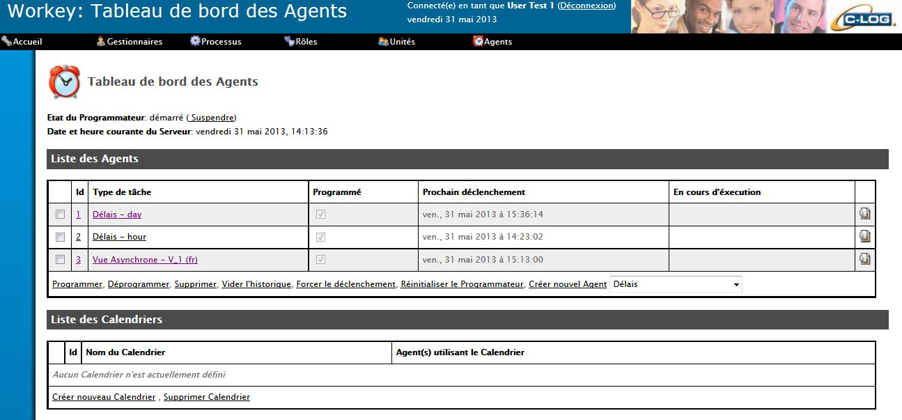 Gestion du scheduler